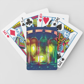Uncommon Funky Multi-Color  Artistic Wine Bottles Bicycle Playing Cards