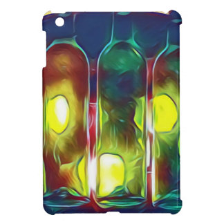 Uncommon Funky Multi-Color  Artistic Wine Bottles Cover For The iPad Mini