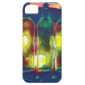 Uncommon Funky Multi-Color  Artistic Wine Bottles iPhone 5 Case
