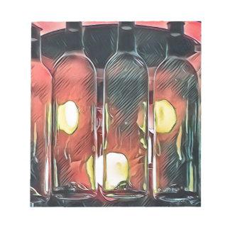 Uncommon Funky Rose Cinnamon Artistic Wine Bottles Notepad