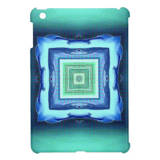 Uncommon Modern Blue Seagreen Geometric Pattern iPad Mini Case