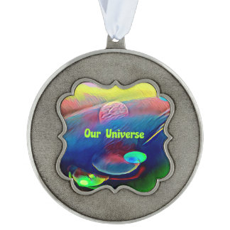 Uncommon Multi-Color Pastel Our Universe Planetary Ornament