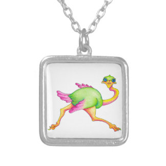 Uncommon Ostrich Silver Plated Necklace
