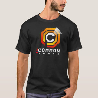 UNCOMMON SENSE TEE ON DARK SHIRT