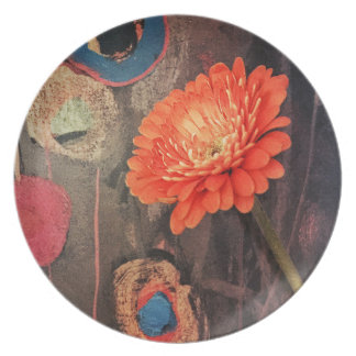 Uncommon Zinnia Plate