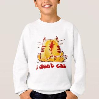 unconcerned cat sitting back turned sweatshirt