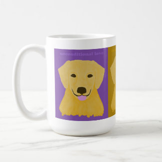 Unconditional Love Golden Retriever Coffee Mug