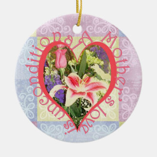 Unconditional Love Heart Ceramic Ornament