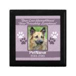 Unconditional Love Pet Sympathy Custom Keepsake Boxes