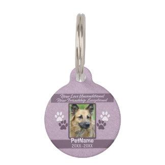 Unconditional Love Pet Sympathy Custom Pet ID Tag