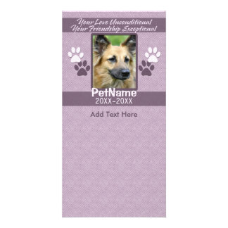 Unconditional Love Pet Sympathy Custom Photo Cards