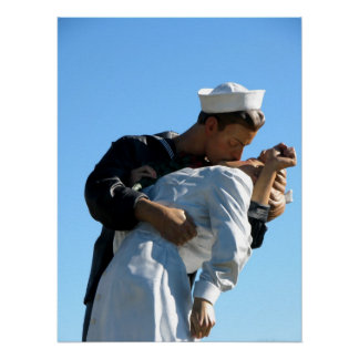 """Unconditional Surrender"" statue - Sarasota, FL Poster"