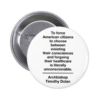 Unconstitutional Contraception Mandate 2 Inch Round Button