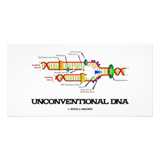 Unconventional DNA (DNA Replication Humor) Photo Card Template