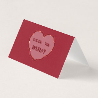 unconventional valentines card you're the wurst