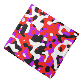 Uncovered Camouflage Neon Red Bandana