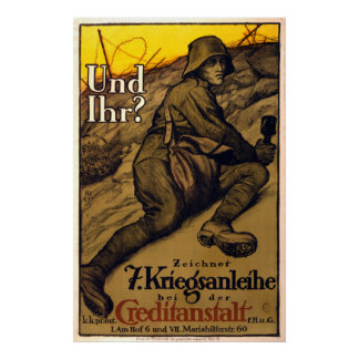 Und Ihr? - 7th War Loan (canvas) Poster