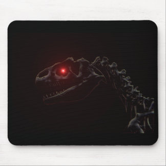 Undead Zombie Dinosaur Skeleton Mouse Pad