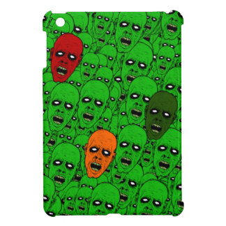 Undead Zombie Heads, glowing eyes, gnashing teeth iPad Mini Cases