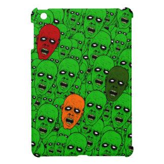 Undead Zombie Heads, glowing eyes, gnashing teeth iPad Mini Cover