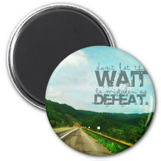 Undefeated 2 Inch Round Magnet