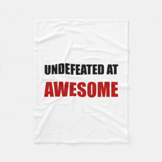 Undefeated At Awesome Fleece Blanket