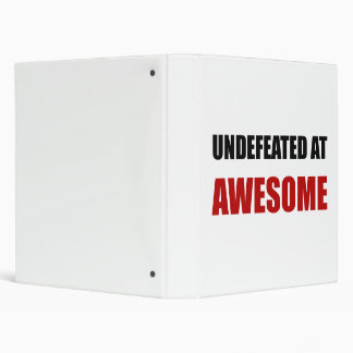 Undefeated At Awesome Vinyl Binder