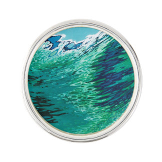 Under A Clear Sky Ocean Lover Silver Lapel Pin
