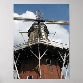 Under a Dutch Windmill Photo Poster Souvenir