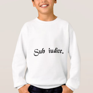Under a judge. sweatshirt