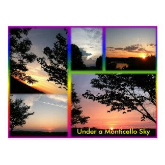 Under a Monticello Sky Postcard