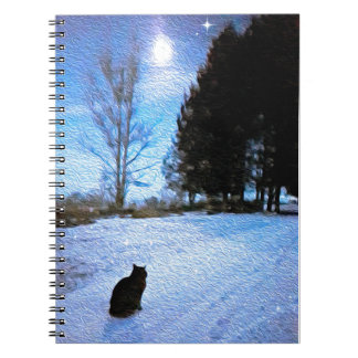 Under A Tabby Moon Note Books