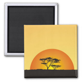 Under African skies: Africa Sunset Magnet