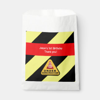 Under construction Birthday party Favour Bag