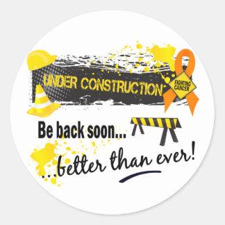 Under Construction Leukemia Round Sticker