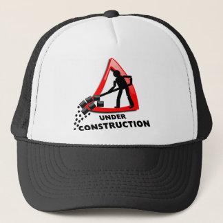 under-construction trucker hat