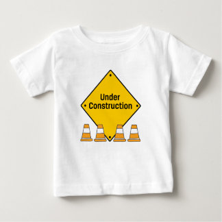 Under Construction with Cones Baby T-Shirt