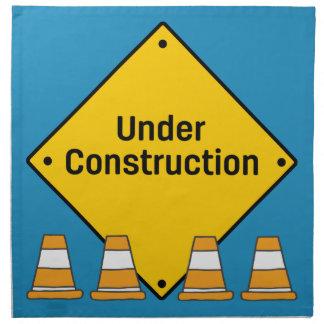 Under Construction with Cones Napkin