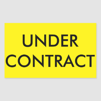 UNDER CONTRACT Sticker for Real Estate Sign