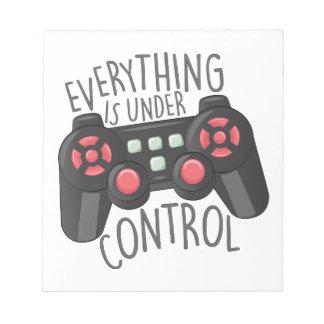 Under Control Notepad