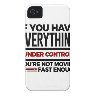 Under Control Too Slow More Speed iPhone 4 Case