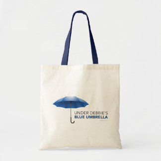 Under Debbie's Blue Umbrella Tote Bag