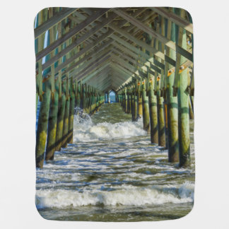 Under Folly Beach Pier Baby Blanket