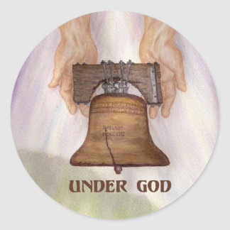 Under God 1 Round Sticker