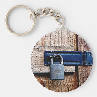 Under Lock and Key Basic Round Button Keychain