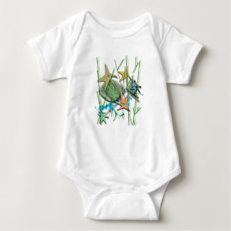 Under more water motif baby bodysuit