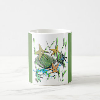 Under more water motif coffee mug