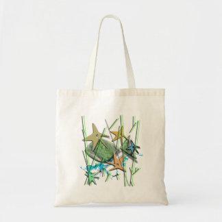Under more water motif tote bag