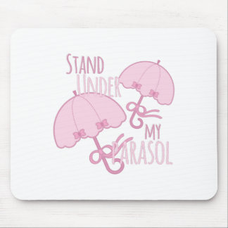 Under My Parasol Mouse Pad