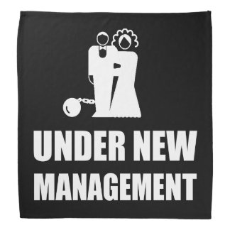 Under New Management Wedding Ball Chain Bandana